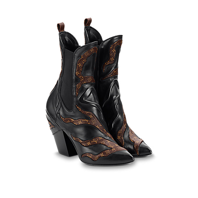 louis vuitton fireball ankle boot shoes