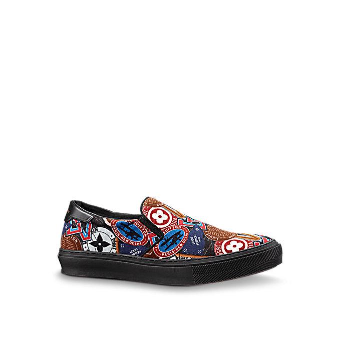 louis vuitton trocadero slip on shoes